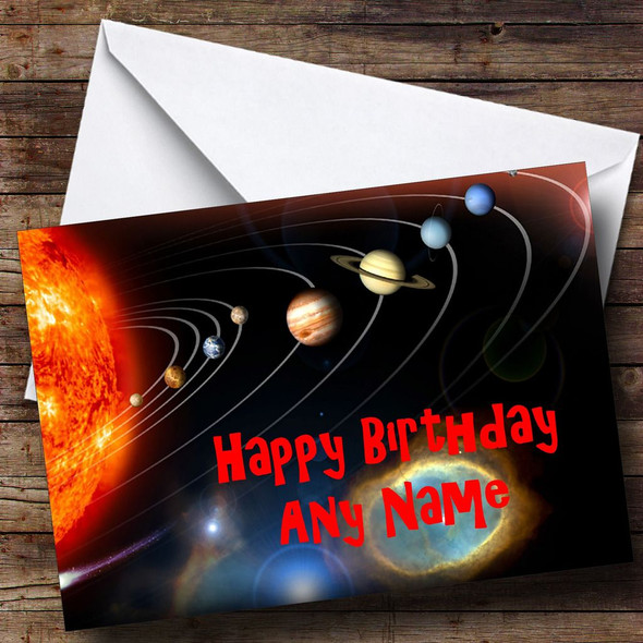 The Solar System Personalised Birthday Card