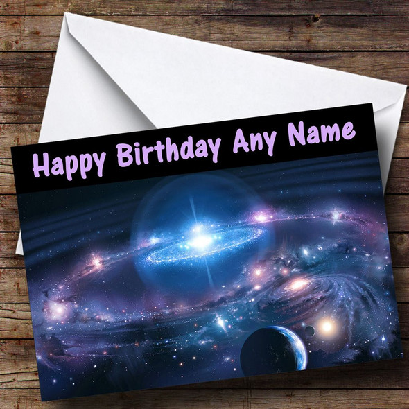 Solar System Personalised Birthday Card