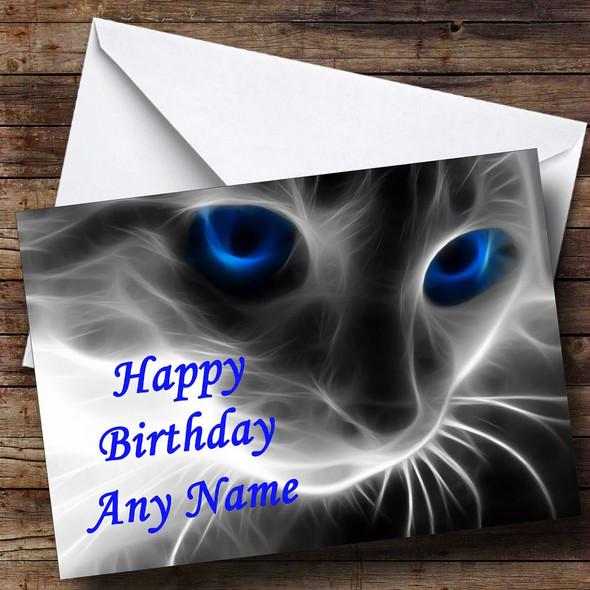 Mystical Cat Personalised Birthday Card