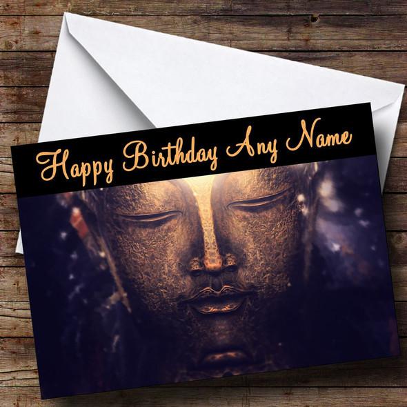Buddha Personalised Birthday Card