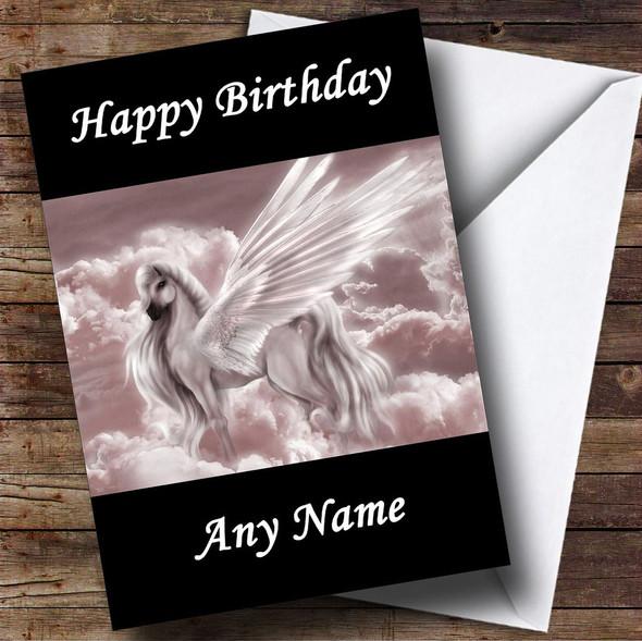 Mystical Pegasus Personalised Birthday Card