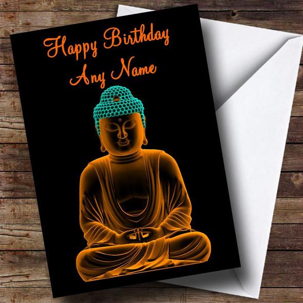 Beautiful Buddha Personalised Birthday Card