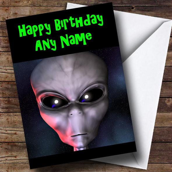 Alien ET Personalised Birthday Card