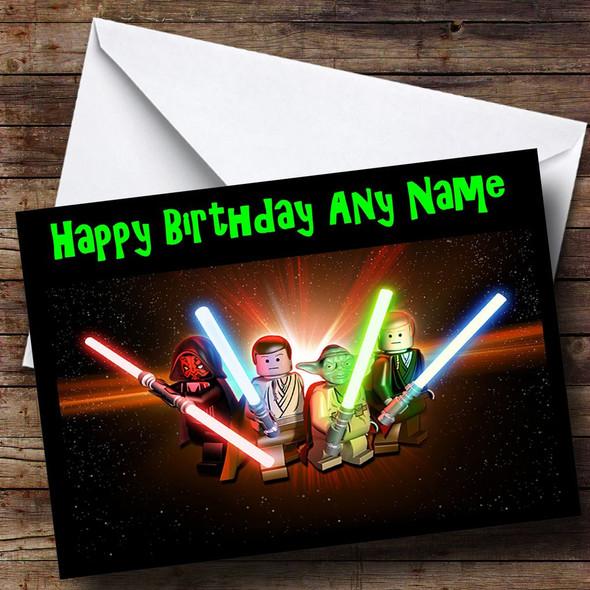Lego Star Wars Personalised Birthday Card