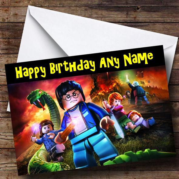 Lego Harry Potter Lego Personalised Birthday Card