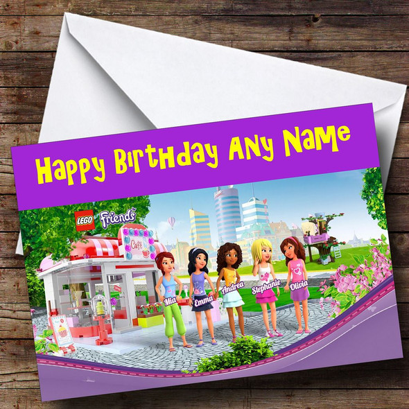 Lego Friends Personalised Birthday Card