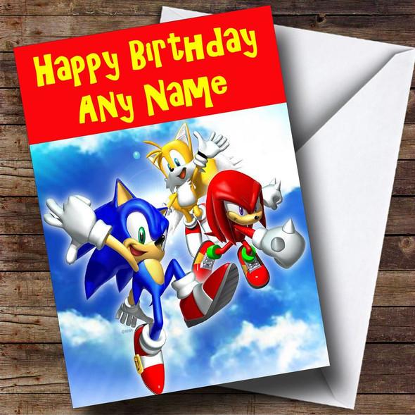 Sonic The Hedgehog  Personalised Birthday Card