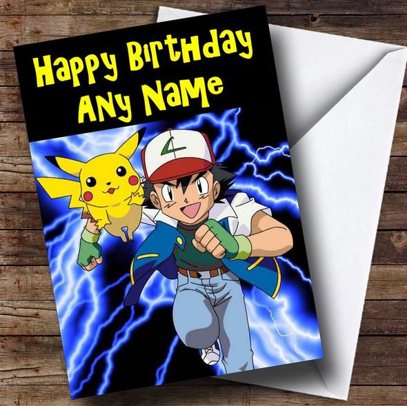 Pokemon Personalised Birthday Card