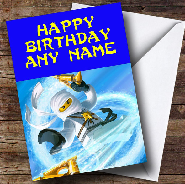Ninjago Zane Personalised Birthday Card