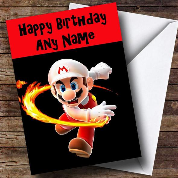 Super Mario Personalised Birthday Card