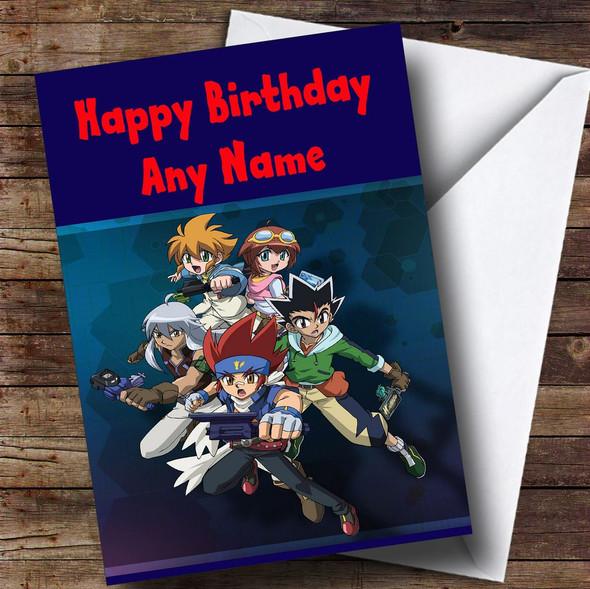 Beyblade Metal  Personalised Children's Birthday Card