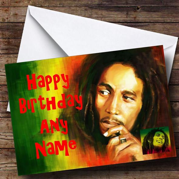 Bob Marley Personalised Birthday Card