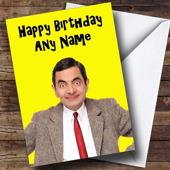 Mr Bean Personalised Birthday Card