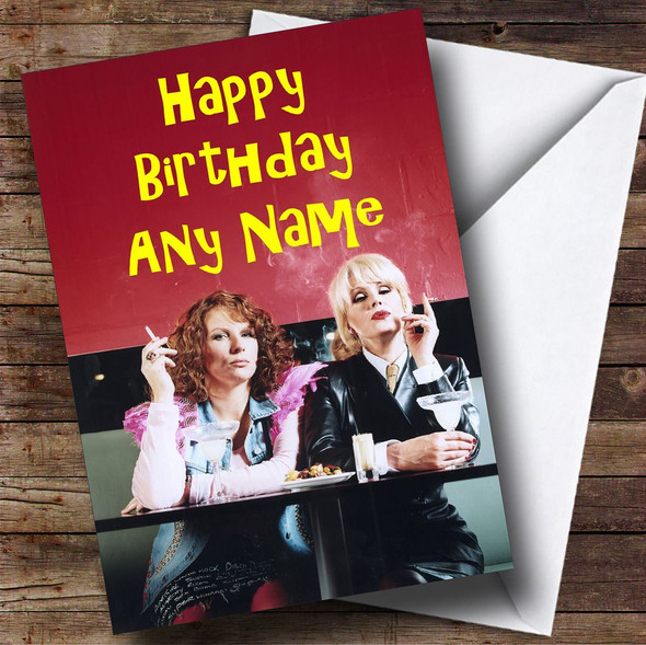 Absolutely Fabulous  Ab Fab Personalised Birthday Card