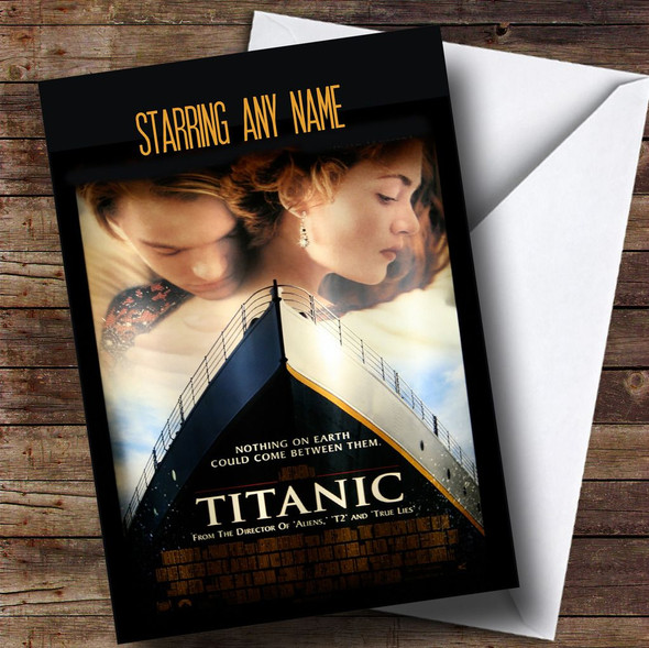 Spoof Titanic Movie Poster Funny Personalised Birthday Card