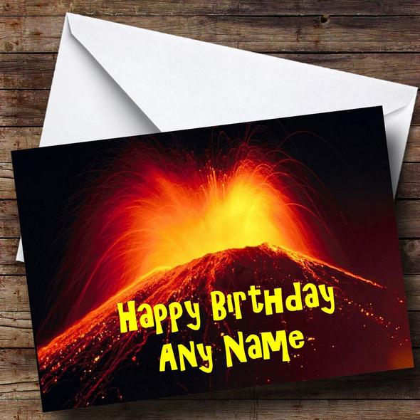 Volcano Personalised Birthday Card