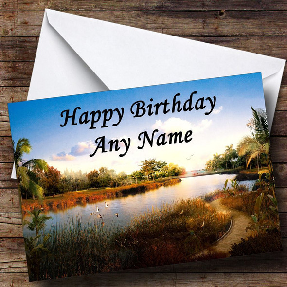 River Personalised Birthday Card