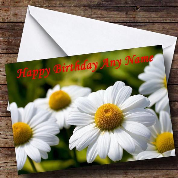 Daisy Flowers Personalised Birthday Card
