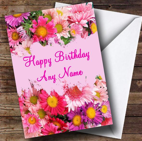 Pretty Flowers Personalised Birthday Card