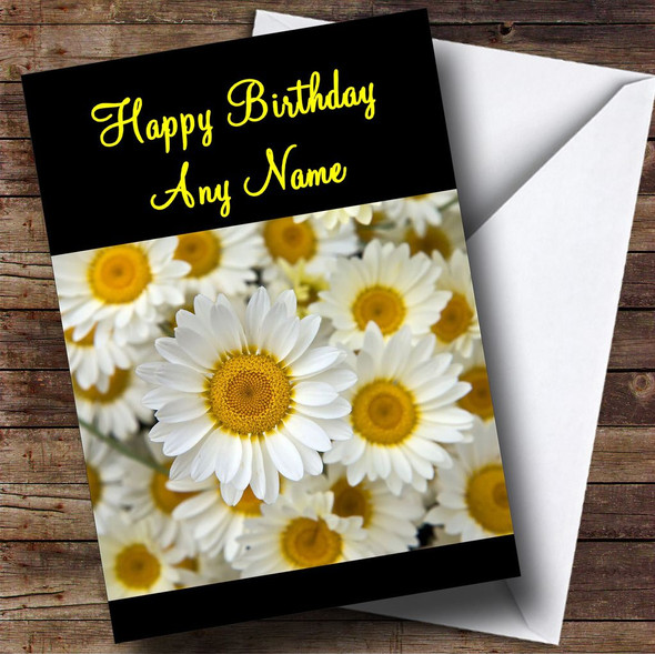 Beautiful Daisy Flowers Personalised Birthday Card