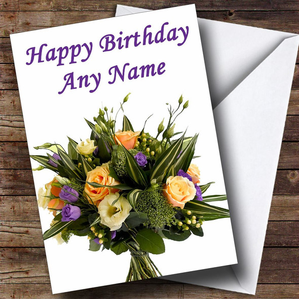 Bunch Of Flowers Personalised Birthday Card