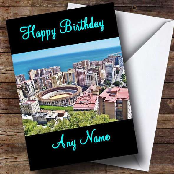 Malaga Personalised Birthday Card