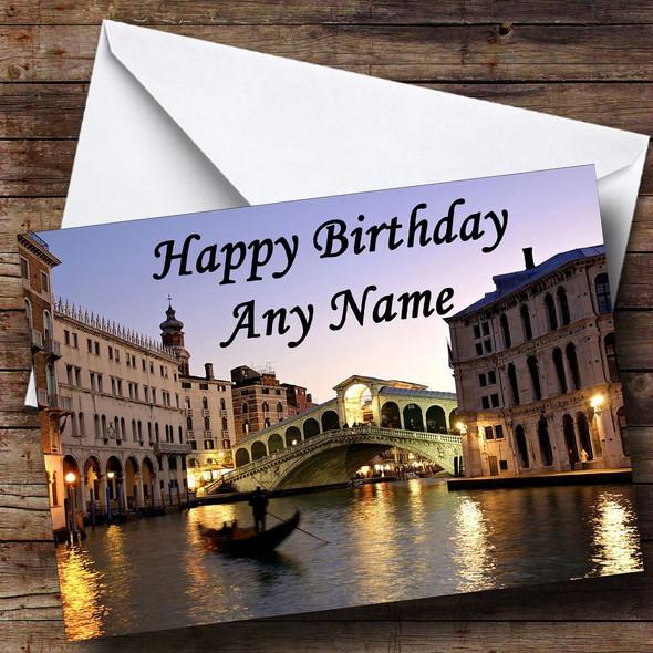 Venice Italy Personalised Birthday Card