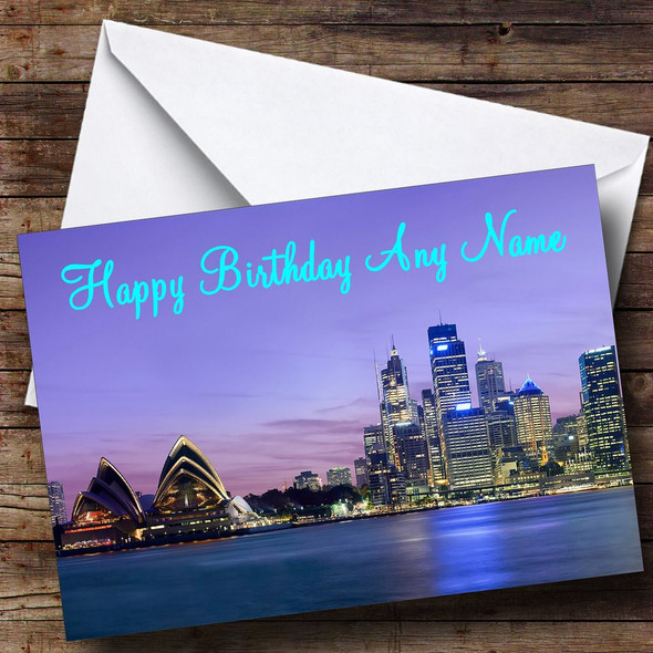 Sydney Australia Personalised Birthday Card