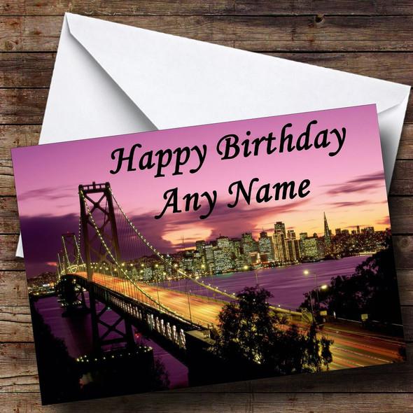 San Francisco Personalised Birthday Card