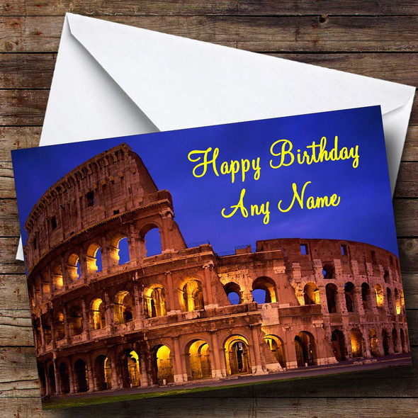Coliseum Rome Italy Personalised Birthday Card