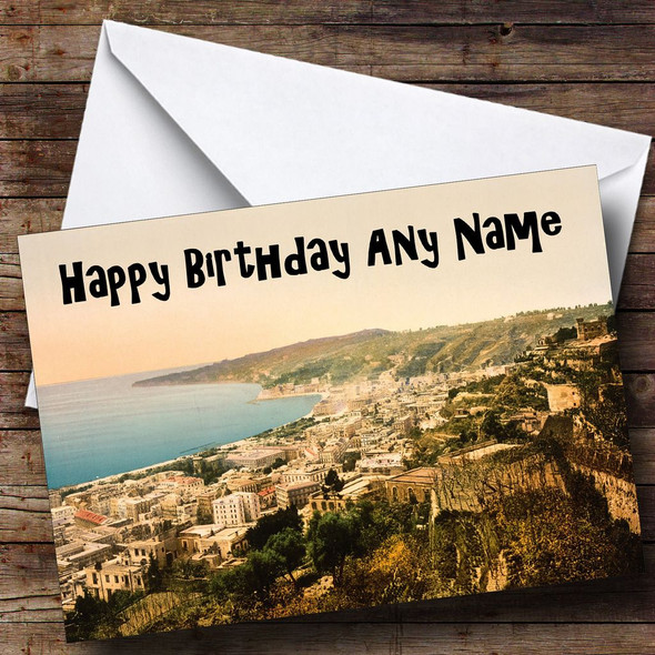 Naples Italy Personalised Birthday Card