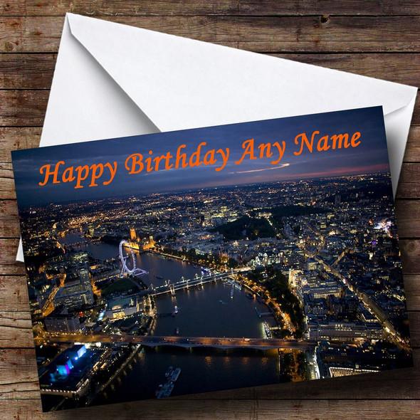 London At Night Personalised Birthday Card
