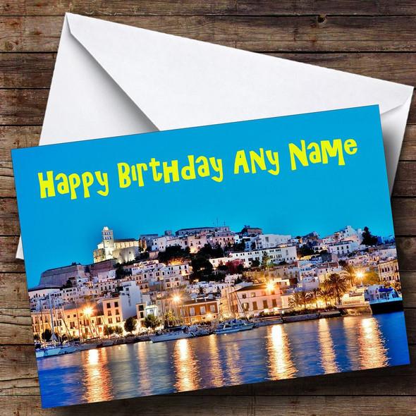 Ibiza Personalised Birthday Card