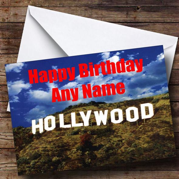 Hollywood Personalised Birthday Card