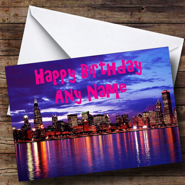 Chicago Personalised Birthday Card