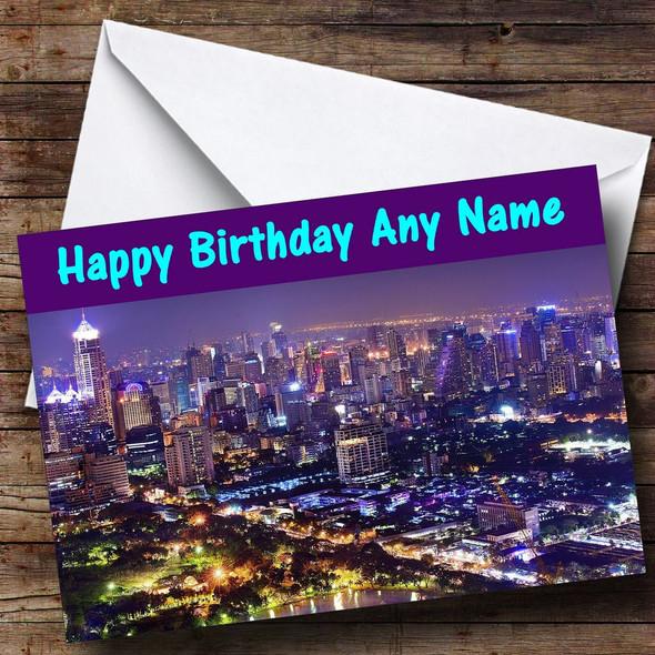 Bangkok Personalised Birthday Card