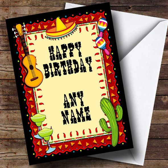 Mexican Personalised Birthday Card