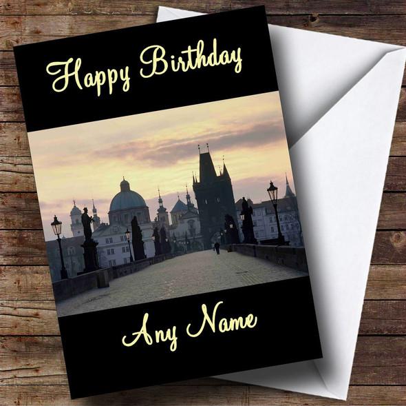 Prague Personalised Birthday Card