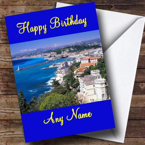 Nice France Personalised Birthday Card