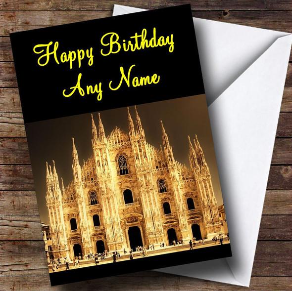Milan Italy Personalised Birthday Card