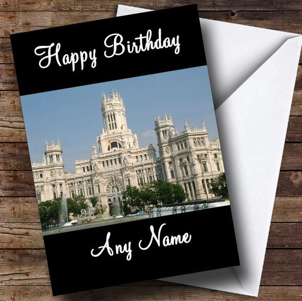 Madrid Spain Personalised Birthday Card