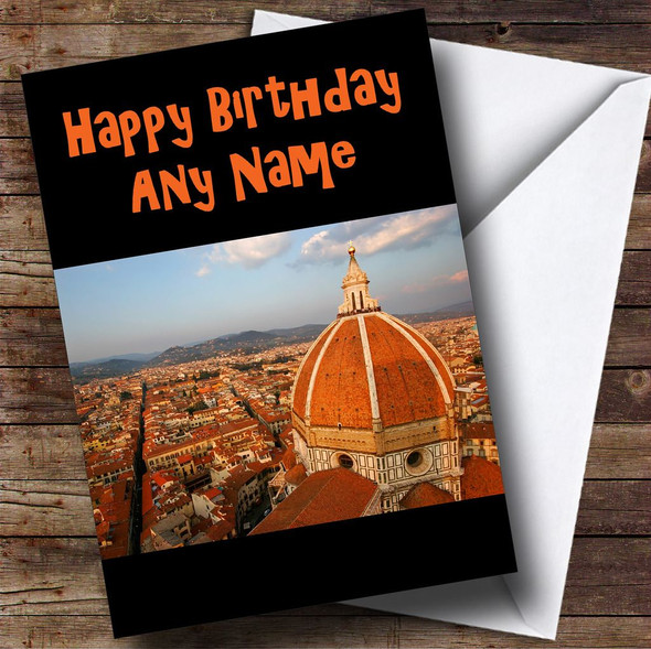 Florence Italy Personalised Birthday Card