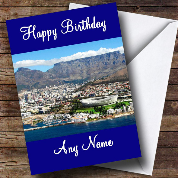 Cape Town South Africa Personalised Birthday Card