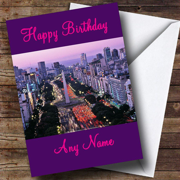 Buenos Aires Personalised Birthday Card