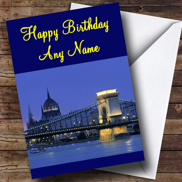 Budapest Personalised Birthday Card