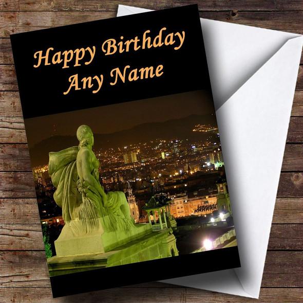 Spain Barcelona Personalised Birthday Card