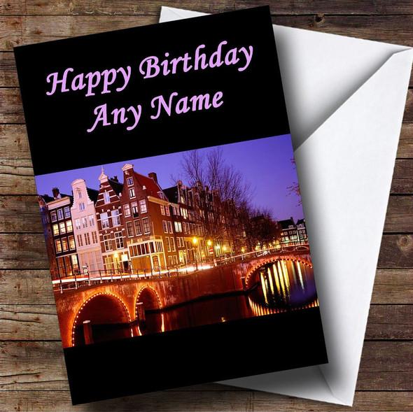 Amsterdam Personalised Birthday Card
