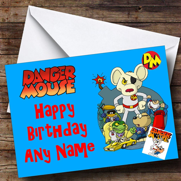Dangermouse Personalised Birthday Card