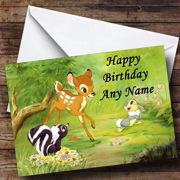 Bambi Personalised Birthday Card