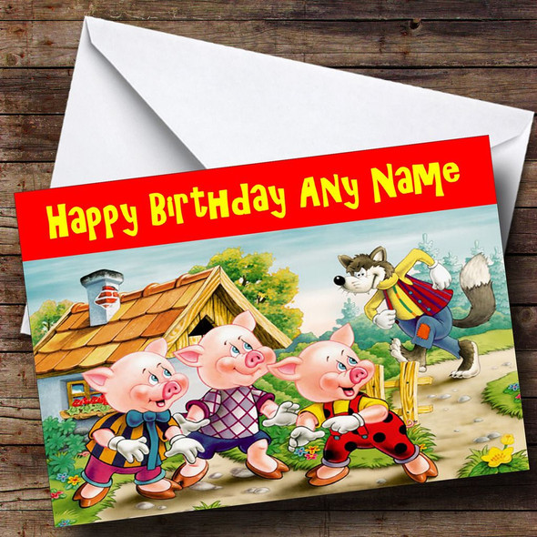 Little Pigs Personalised Birthday Card